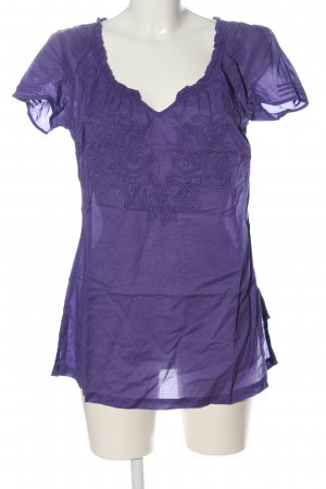 Mexx Carmen Shirt lilac graphic pattern casual look