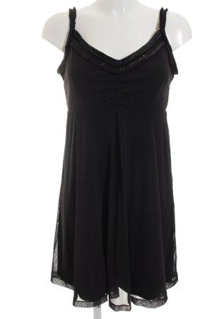 Mexx Chiffonkleid schwarz Elegant
