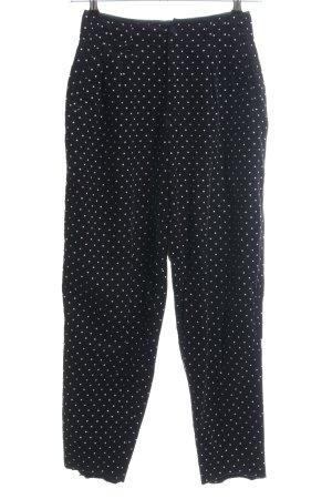 Mexx Corduroy Trousers black-white spot pattern casual look