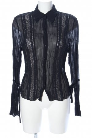 Mexx Crash-Bluse schwarz Casual-Look