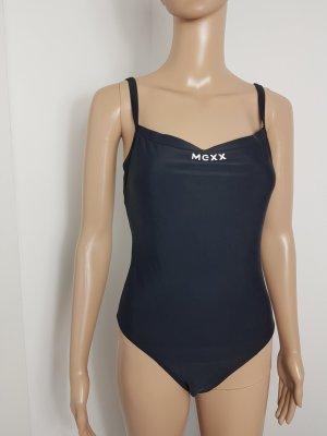 Mexx Damen Badeanzug Bademode mit Logo Druck schwarz Größe 40