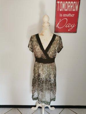 Mexx Damen Crepe Kleid Sommerkleid Strandkleid gemustert Größe 38