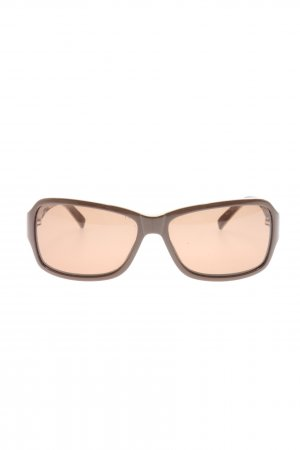 Mexx Angular Shaped Sunglasses brown themed print business style