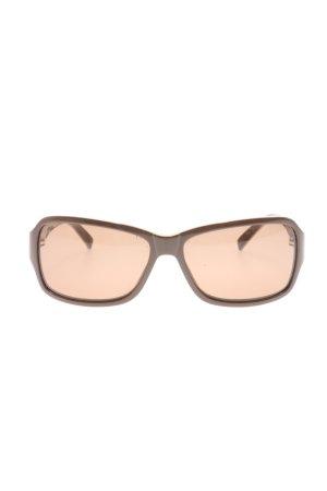 Mexx Gafas de sol cuadradas marrón estampado temático estilo «business»