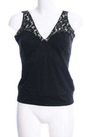 Mexx Empire Waist Top black flower pattern elegant