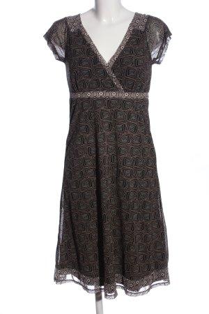 Mexx Robe empire brun-noir motif abstrait style décontracté