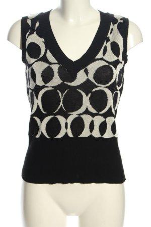 Mexx Fijn gebreide cardigan zwart-wit abstract patroon casual uitstraling
