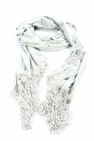 Mexx Fringed Scarf light grey-white flecked casual look