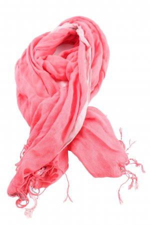 Mexx Fringed Scarf pink casual look
