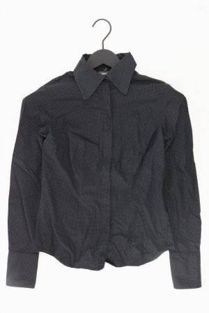 Mexx gepunktete Bluse Größe 34 Langarm schwarz aus Baumwolle