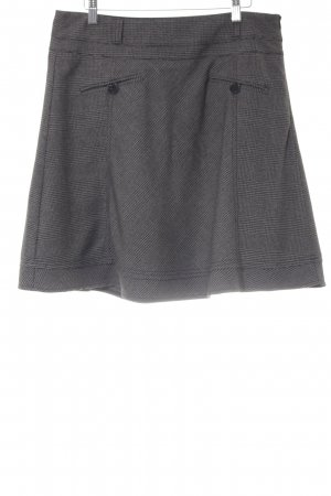 Mexx Flared Skirt anthracite houndstooth pattern