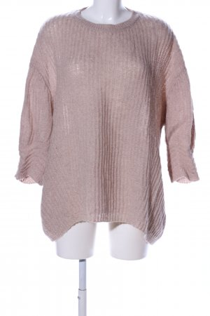 Mexx Grobstrickpullover pink Zopfmuster Casual-Look
