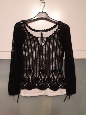 Mexx Gehaakte trui zwart Katoen
