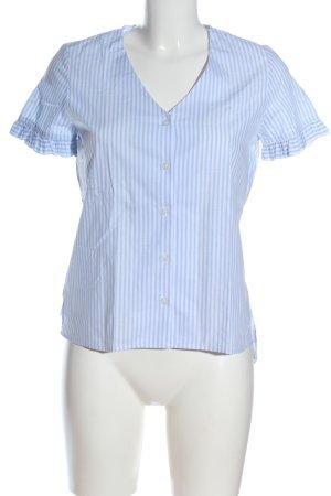 Mexx Hemd-Bluse blau-weiß Streifenmuster Business-Look