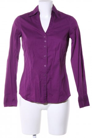 Mexx Hemd-Bluse lila Casual-Look