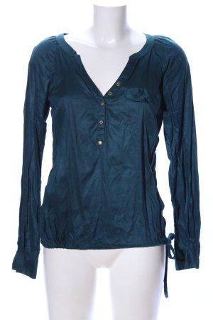 Mexx Hemd-Bluse blau Casual-Look