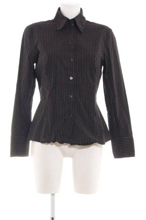 Mexx Hemd-Bluse braun-weiß Streifenmuster Casual-Look