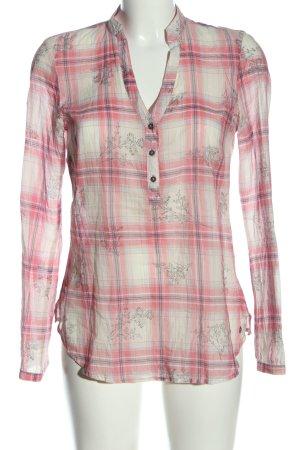 Mexx Hemd-Bluse wollweiß-pink Allover-Druck Casual-Look
