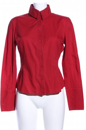 Mexx Hemd-Bluse rot Streifenmuster Business-Look