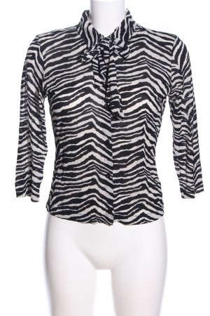Mexx Hemd-Bluse schwarz-weiß Animalmuster Elegant