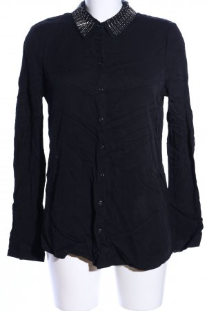 Mexx Hemd-Bluse schwarz Casual-Look