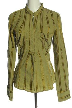 Mexx Hemd-Bluse grün-goldfarben Streifenmuster Casual-Look