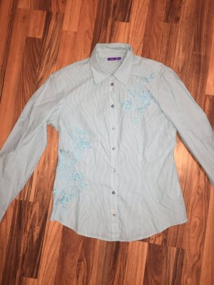 Mexx Hemdbluse mit feinen Streifen und Stickerei 40 klassische Impressionen