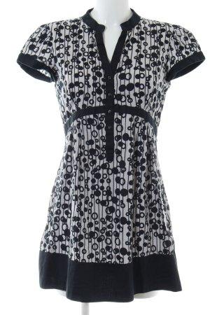 Mexx Robe chemise gris clair-noir imprimé allover style décontracté
