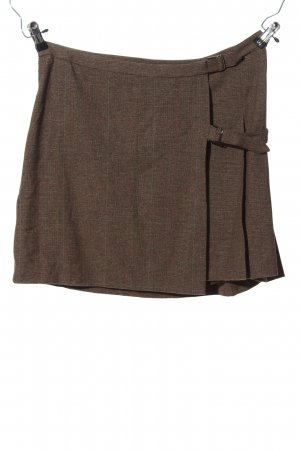 Mexx High Waist Skirt brown check pattern business style