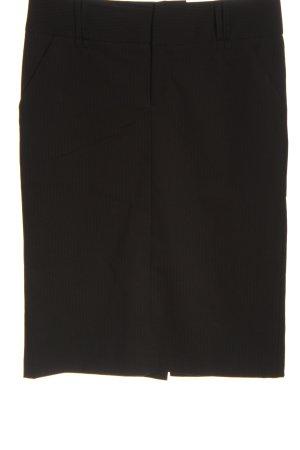 Mexx High Waist Skirt black striped pattern business style