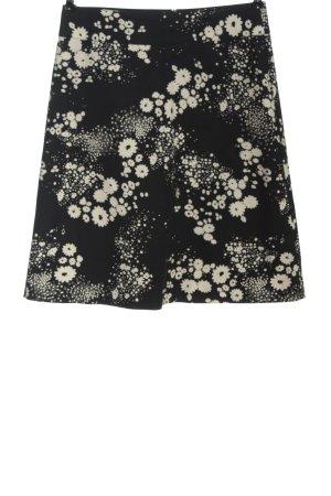 Mexx Spódnica z wysokim stanem czarny-w kolorze białej wełny Wzór w kwiaty