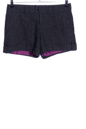 Mexx High-Waist-Shorts schwarz-weiß Streifenmuster Casual-Look