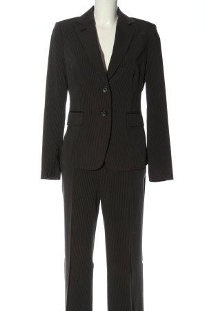 Mexx Tailleur-pantalon noir-blanc motif rayé style décontracté