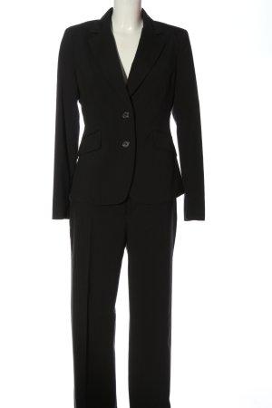 Mexx Tailleur-pantalon noir motif rayé style d'affaires
