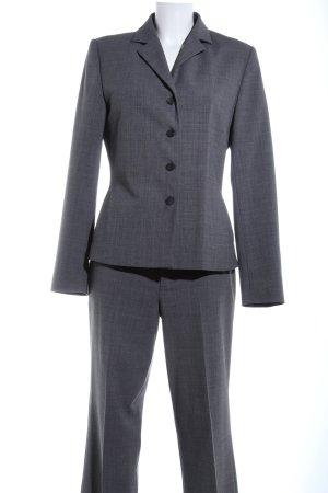 Mexx Trouser Suit light grey weave pattern business style