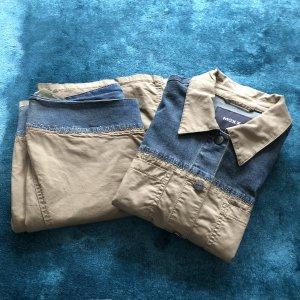 Mexx Tailleur-pantalon beige clair-bleu azur