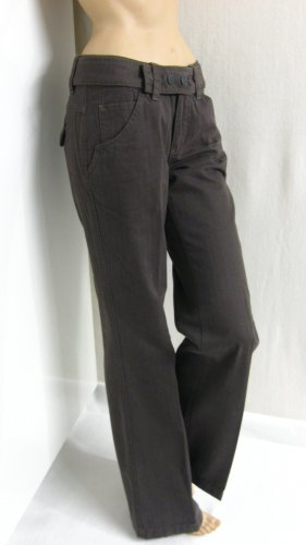Mexx Palazzo Pants grey brown cotton