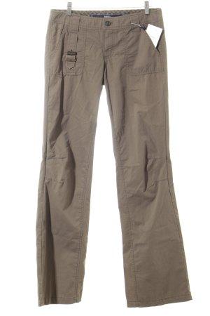 Mexx Lage taille broek grijs-bruin casual uitstraling