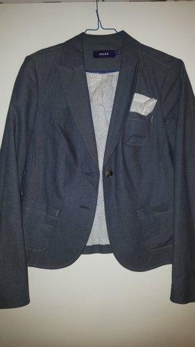 Mexx Blazer en jean bleu acier-gris ardoise coton