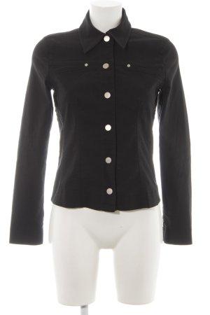 Mexx Denim Jacket black-silver-colored street-fashion look
