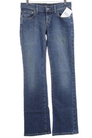 Mexx Jeansschlaghose dunkelblau meliert Street-Fashion-Look