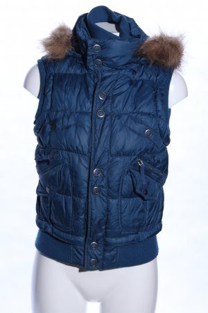 Mexx Hooded Vest blue quilting pattern casual look