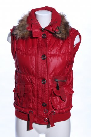 Mexx Hooded Vest red-brown quilting pattern casual look