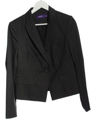 Mexx Klassischer Blazer schwarz-weiß Streifenmuster Business-Look