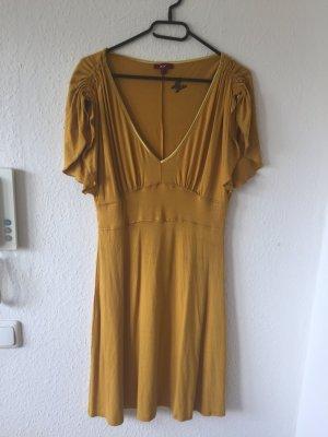 Mexx Sukienka z krótkim rękawem złotopomarańczowy