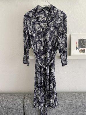 Mexx Kleid Gr. 36 blau weiß Hemdkleid mit Schleife Gr. S