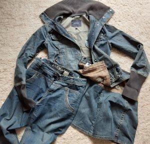 Mexx Jeans large gris ardoise-bleu
