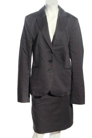 Mexx Kostüm schwarz-khaki Streifenmuster Casual-Look