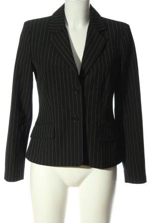 Mexx Kurz-Blazer schwarz-weiß Streifenmuster Business-Look