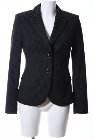 Mexx Kurz-Blazer schwarz Allover-Druck Business-Look